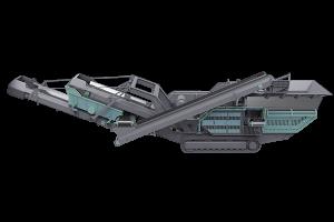 Planta móvil de trituradora de impacto sobre orugas